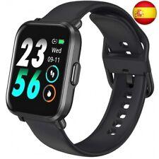 HolyHigh Smartwatch Fitness Pantalla Táctil Reloj Inteligente Fitness  (black)