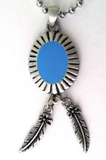 American Indian Pewter Pendant Mens Boys Girls Chain Necklace   LPC 048