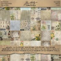 Paper Stash 12x12 Wallflower - Ideaology Pad Tim Holtz Wall Flower Pack 36