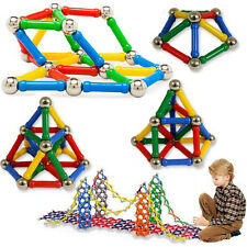 84Pcs Baby Kids Magnetic Stick Beads Assembly Intelligence Educational Toys New