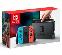 Nintendo Switch - 32GB Gray Console (with Neon Red/Neon Blue Joy-Con) Japanese