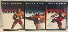 3 Billy Blanks Tae Bo Cardio Flex Express workout DVD set lot for body and mind