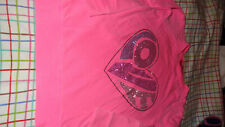 Me.n.u  Girl's LIGHT Sweatshirt Size XS 7/8 LOVE MEDIUM HOT PINK COLOR
