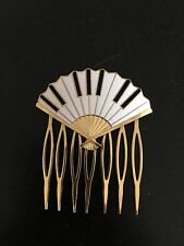 Am 1984 Hair Comb Jewely Fan Piano Design Signed