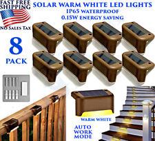 8 PCS DECK POST SOLAR LIGHTS DECORATIVE GARDEN FENCE STAIRS SENSOR BEST OUTDOOR