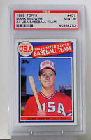1985 TOPPS #401MARK McGWIRE PSA 9 MINT  84 U.S.A. BASEBALL TEAM  R.C. Future HOF