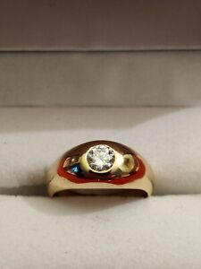 Solitär Brilliant Ring 0,50 Ct TW(feines weiss) VVS  Größe 54 in 585er Gelbgold
