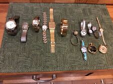 VINTAGE Watch Lot (14) Mens & Ladies Citizen,Seiko,Greun, Bulova Accutron +