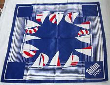 Orig.silk scarf   Olympic Games MOSKAU 1980 - Sayling Event`s in TALLINN / 80 cm