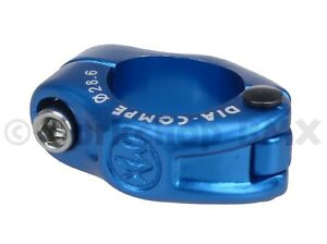 """Dia-Compe hinged old school BMX bicycle seat post clamp 28.6mm 1 1/8"""" DARK BLUE"""