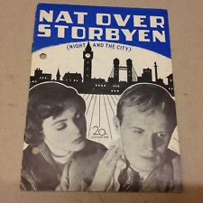 """Night and the City"" Richard Widmark Tierney 1950 Danish Original Movie Program"