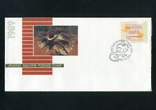 Australia 1989 Frama Vending macine stamp 41c Lizard Fdc Ringwood Fdi Shs
