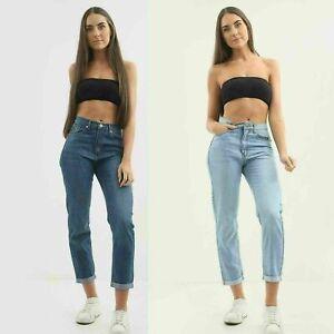 New Womens Ladies Denim stretchy Boyfriend Mom Jeans UK Size 8 10 12 14
