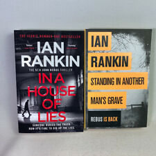 2 Ian Rankin Books - In A House of Lies, Standing In Another  Mans Grave