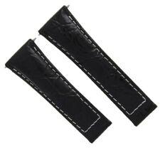 16520 116518 116519 Black Ws Regular Leather Watch Band For Rolex Daytona