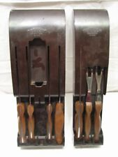Set Cutco Knives +Wall Holder 22 23 24 25 26 27 28 Fork Spatula Chef Bread Knife