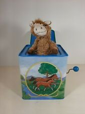 Schylling Dancer The Horse Metal Wind Up Musical Hand Crank Jack In The Box
