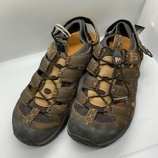 Merrell Saugatuck Kangaroo Sandals Continuum Vibram Shoes Men's Size 10