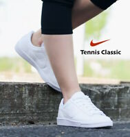 Nike Tennis Classic Women's Leather Sneakers Shoe 312498 All White size 7 8 9 10