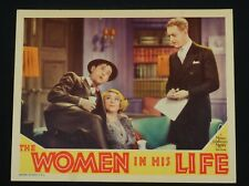 THE WOMEN IN HIS LIFE 1933 * OTTO KRUGER * UNA MERKEL * RARE LOBBY CARD!!