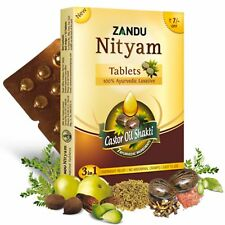 Zandu Nityam Tablets for gas, acidity,flatulence, digestion 10x12 tablet=120