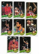 1979-80 Topps Philadelphia 76ers Team Set with Julius Erving