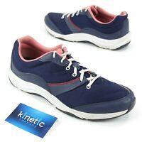 Vionic Womens Sz 11 Walking Shoes Navy Blue Pink 43KONA/8552 1st Ray Technology