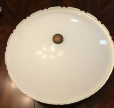 "16"" White Flush Mount Ceiling Light Fixture kitchen, bedroom, rec room Lighting"