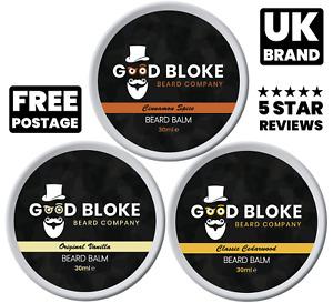 UK Beard Balm 30ml • Premium Organic Natural • Choose Scent • Styles Jojoba Shea