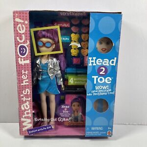 What's Her Face Evening Out Glam Fashion Activity Doll 2001 Mattel No.56046 NRFB