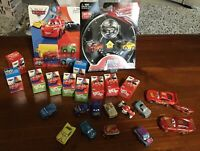 DISNEY PIXAR CARS METAL MINI RACERS X 16 + Rusteze Golden McQueen RARE Ones Mint