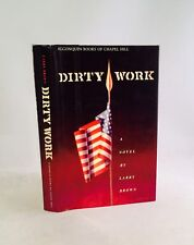 Dirty Work-Larry Brown-SIGNED!!-TRUE First Edition/1st Printing!!-1989-VERY RARE