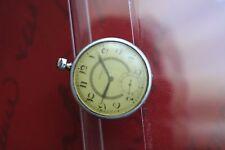Rare Original SILVANA Military SILVER Pocket WWII Germany Army Wristwatch 1940s