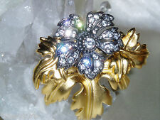 Exquisite New JOAN RIVERS Flat Gold & Silver Tone Metal Pin / Brooch