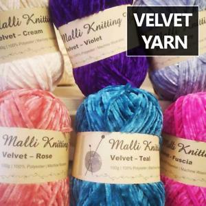 100g Malli Velvet Yarn Ball Luxurious Super Soft Knitting Crochet Wool