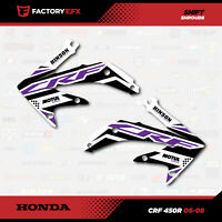 Purple Shift Shroud Graphics Kit fit 05-08 Honda Crf450R CRF 450 450R Shroud