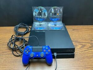 Sony PlayStation 4 PS4 Model 1001A 500 GB Black Console Controller 8 Games Cords