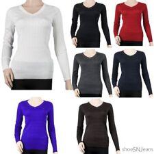 Cotton V-Neck Solid Regular Size Jumpers & Cardigans for Women
