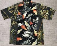 Tommy Bahama Hawaiian Shirt Relax 100%  Silk   Aloha Mens Sz M  Floral Palm Tree