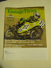 December 2006 issue 213 Vintage Views AHRMA Magazine  (BD-40)