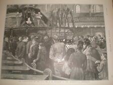 Lying in State of C H Spurgeon at Metropolitan Tabernacle 1892 print ref AU