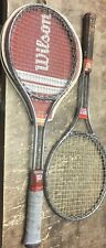WILSON T2000 VINTAGE STEEL TENNIS RACQUET WITH T3000 COVER Lot Of 2