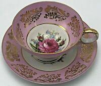 Vintage Royal Sealy China Tea Cup & Saucer Japan Pink Rose