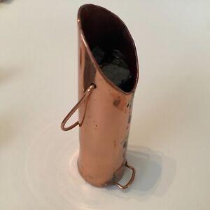 Dolls house miniature 1:12 HANDMADE vintage copper coal scuttle + coal