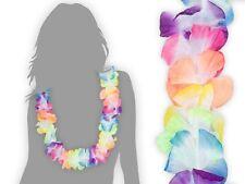 """Lot de 12 collier hawaien Hawaïen multicolor textile coloré Hawaï hawaii """"HK-02"""""""