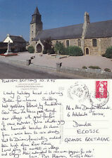1995 THE CHURCH PLURIEN BRITTANY FRANCE COLOUR POSTCARD