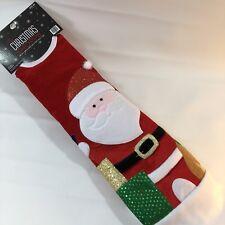 """New 48"""" Christmas Shoppe Tree Skirt - Red Santa Thick Velvet"""