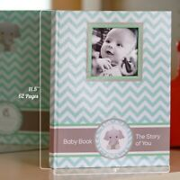 Baby Memory Book - Newborn Journal - Baby First Year Book Album - Baby Shower B