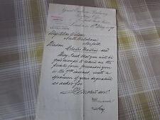 GREAT Eastern Railway 1898 Original Letter Headed Letter re Return of Form