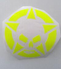 Aufkleber Totenkopf Folie Aufkleber Skull Folierung Mr-Plott Helm Neon Gelb